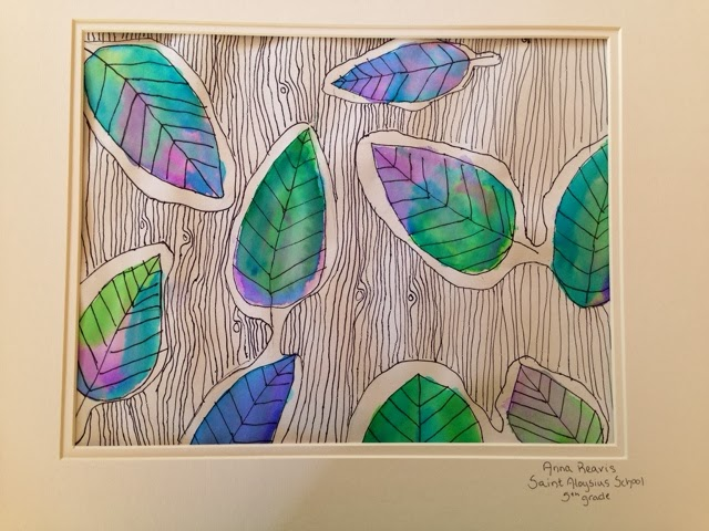 With This Lesson Students Combined The Elements Of Art Visual Texture Positive And Negative Space Line Shape Color As Well Drawing