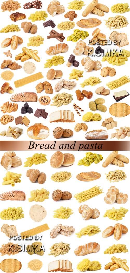 Stock Photo: Bread and pasta