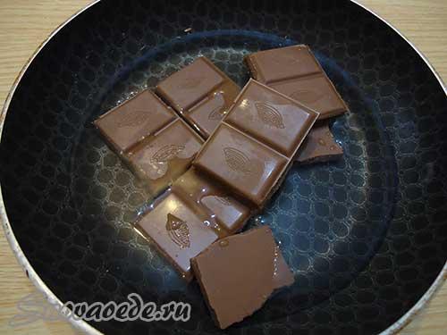 шоколад растопить с водой