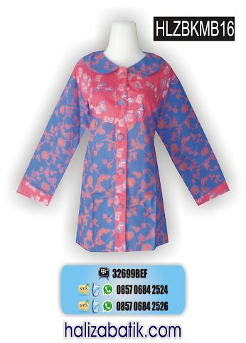 HLZBMKB16 Model Blus, Baju Batik, Baju Model Blus, HLZBMKB16
