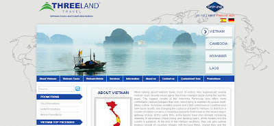 Threeland Travel's website