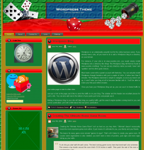 Online Casino And Poker Theme