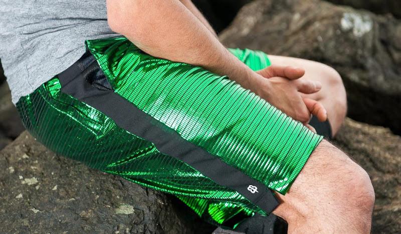 Green Disco Sport Shorts