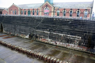 Titanic's dry dock in Belfast Ireland