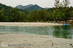 River between the north and south beaches of Klong Prao
