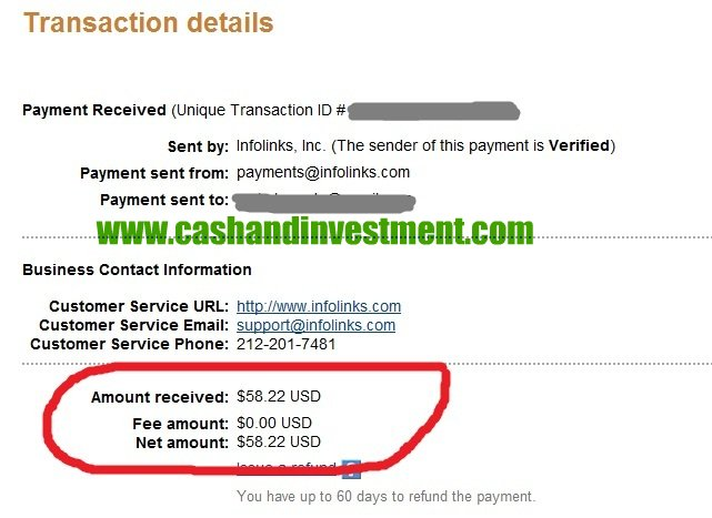 infolinks earnings | Cash and Investment