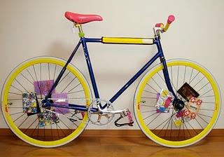 Sepeda Fixie Kuning:Modifikasi Sepeda Fixie
