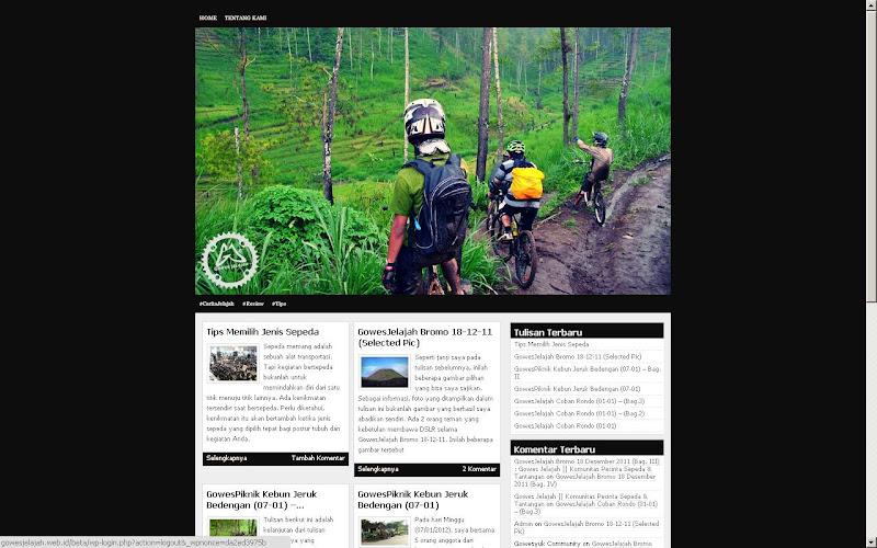 Tampilan GowesJelajah.web.id