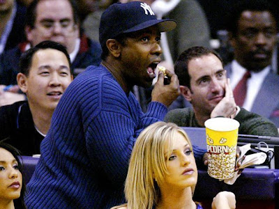 denzel washington eating