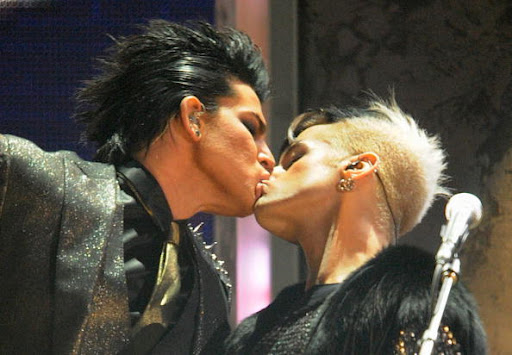 Adam Lambert Kisses Another Man Cover
