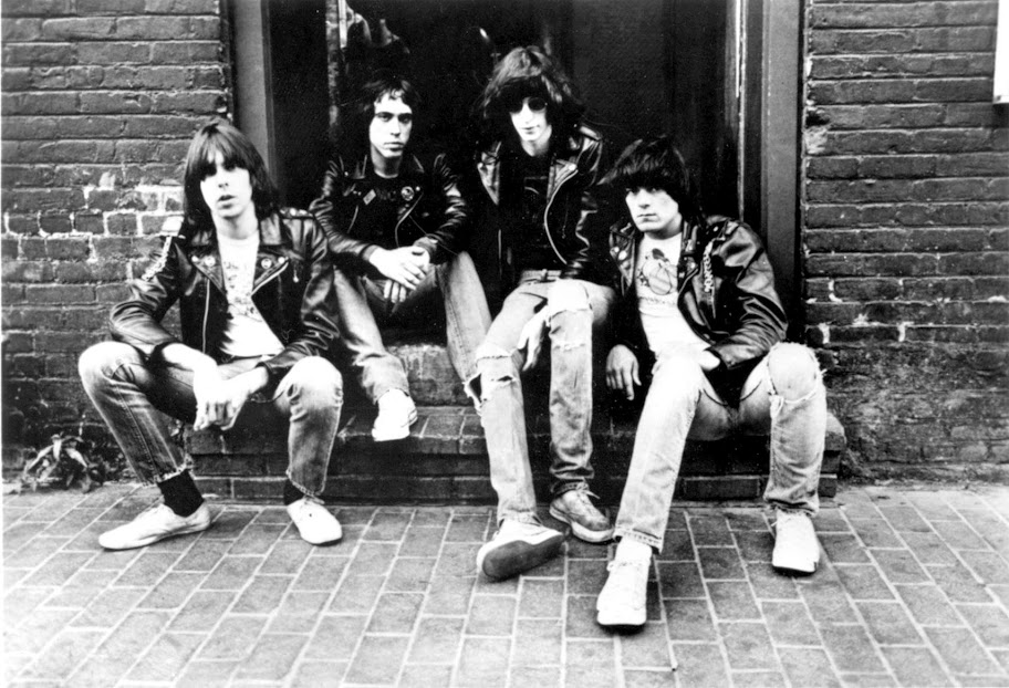 Johnny, Joey, Tommy and Dee Dee are The Ramones circa 1978