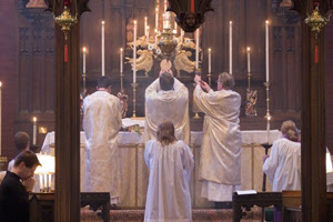 Eucharist at the high church St. Paul the Apostle, Savannah