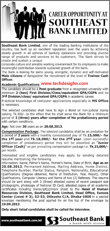 southeast bank limited cash officer