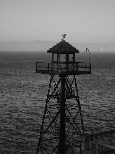 torre de vigilancia en Alcatraz