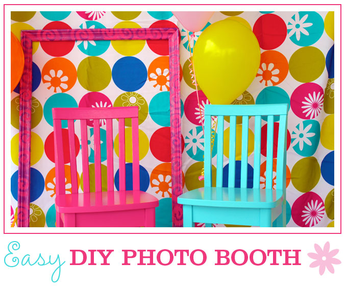 How to set up an easy diy photo booth chickabug photo booths are such a fun party activity for both kids and adults and its really not hard to create a really great looking setup solutioingenieria Images