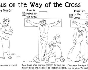 Stations Of The Cross Coloring Pages Simple Printable Stations Of The Cross For Children 2017