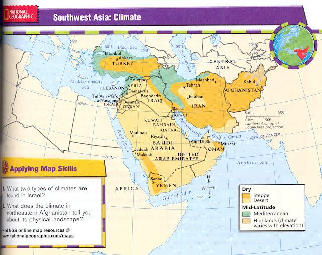 Southwest Asia Study Maps 119