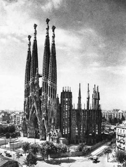 La Sagrada Familia, foto antigua