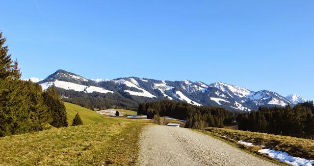 Sonthofen Hofen Altstädten Blick auf Sonthofner Hörnle,Sonnenköpfe bis Rubihorn