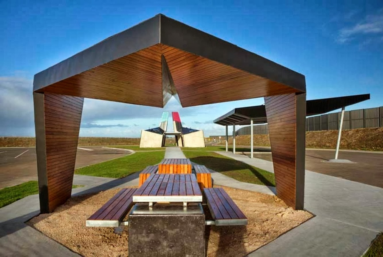 Princes Freeway, Geelong Victoria, Australia: Geelong Ring Road Truck Stop Rest Areas by Bkk Architects