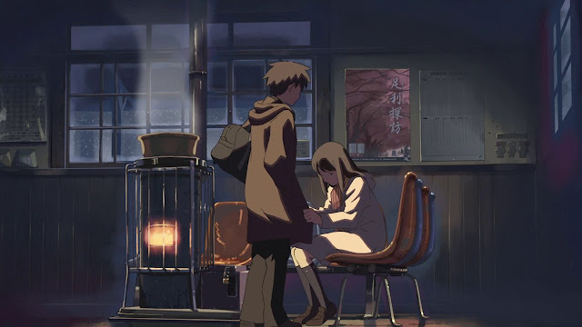 Moment In Five Centimeters Per Second Akari Has Been Waiting For Takaki At The Train Station The Entire Time And Fell Asleep Prior To His Arrival