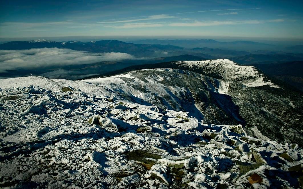 Widok z Babiej Góry zimą