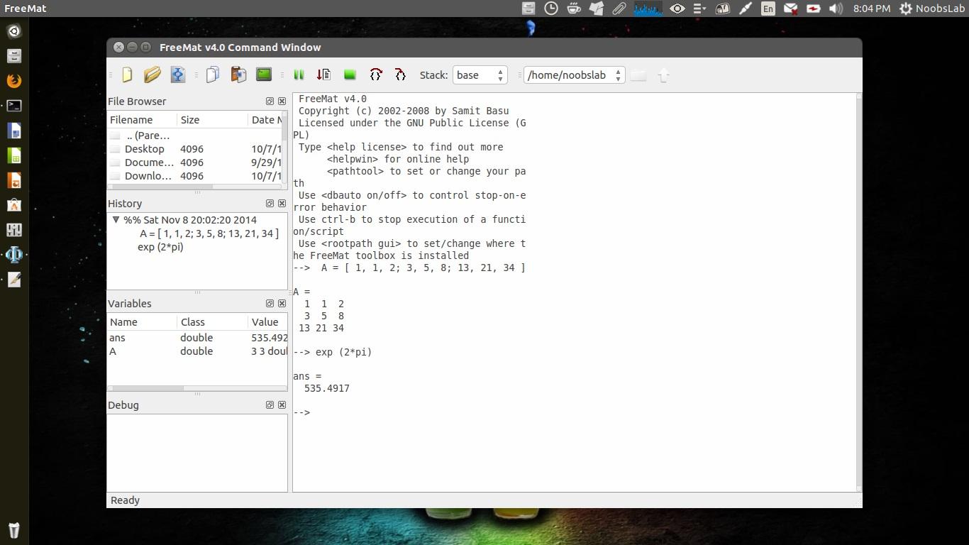 Matlab Alternative Softwares For Linux/Ubuntu/Linux Mint - NoobsLab
