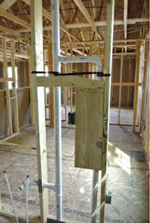 Picture of plumbing in mater bathroom of Ryan Homes Florence model