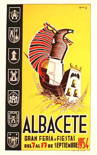 Cartel Feria Albacete 1954