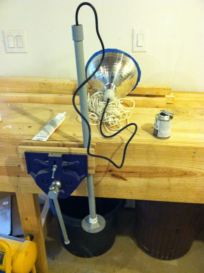 Cord in conduit for DIY Barn Pendant lights