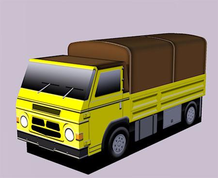 Renault Goelette Papercraft Truck