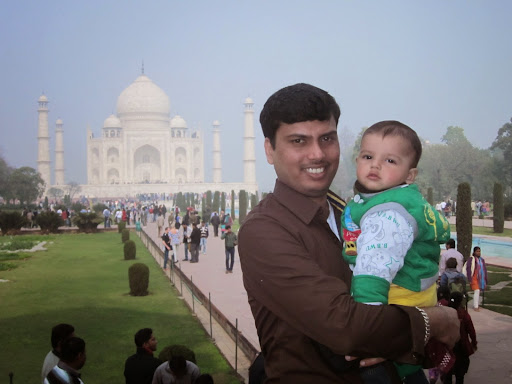Atharv with his papa Dhiraj