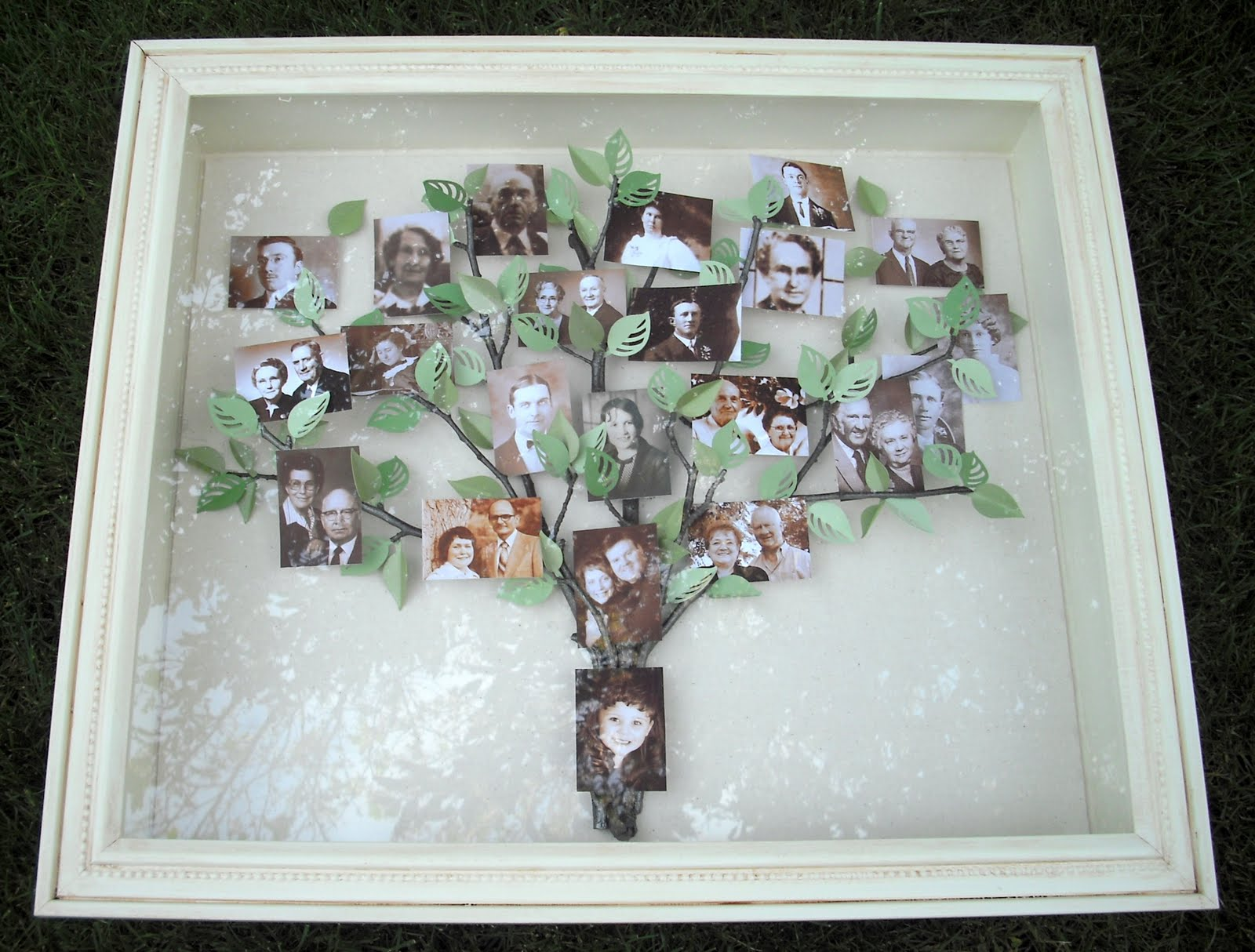 Repurposed Frame Into Shadow Box