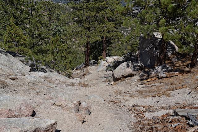 gravel over rocks