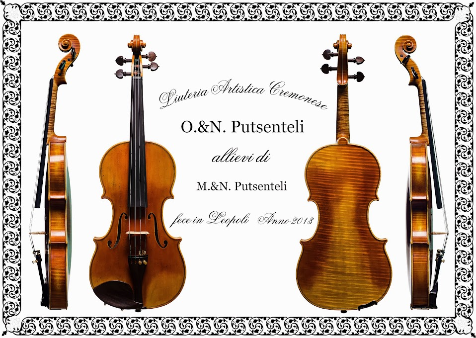 Violin O&N Putsenteli fece in Leopoli  Anno 2013 antique