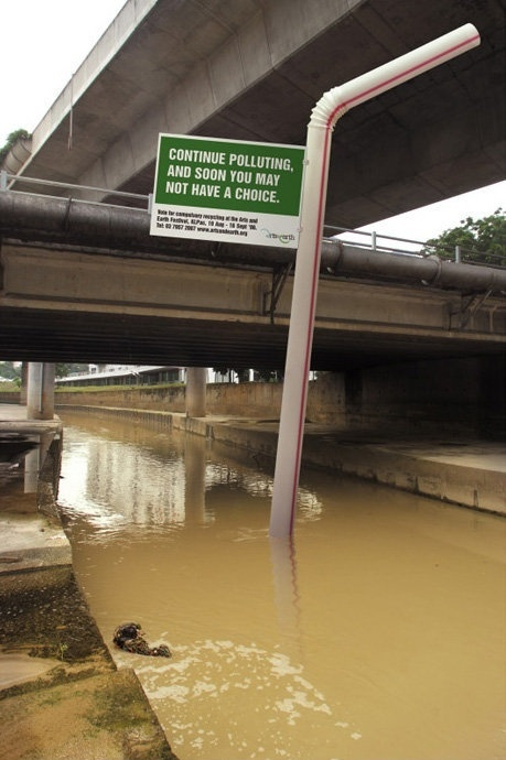 Water Pollution Creative Sign