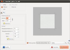 Optimizando imágenes para la Web con GIMP en Ubuntu. Tamaño.