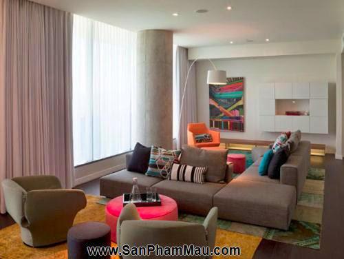 Bí quyết trang trí phòng khách dài và hẹp - Tủ âm tường-3