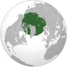 Location of the Arctic.