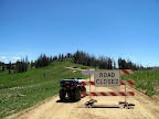 Road Closed sign on Skyline Drive