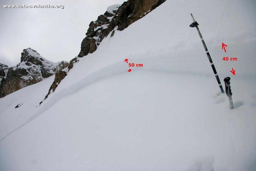 Avalanche Vanoise, secteur Dent Parrachée, Col des Hauts - Photo 1