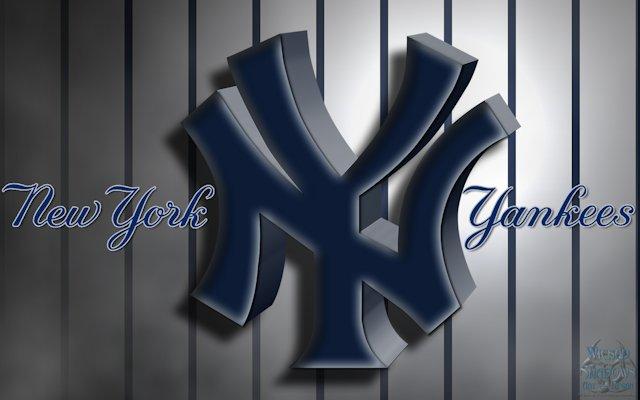 New York Yankees 3D Logo Wallpaper