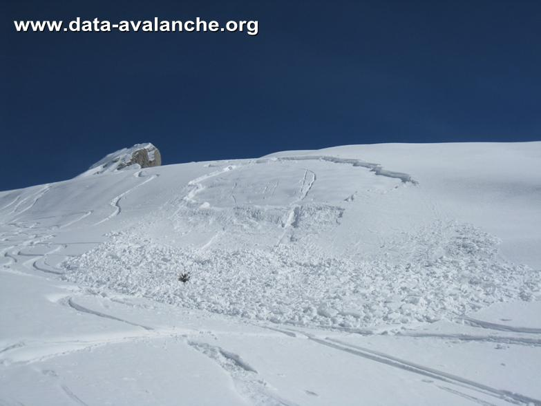 Avalanche Aravis, secteur Pointe de Merdassier, Dent du Chatelet ; Combe de Blonnière - Photo 1