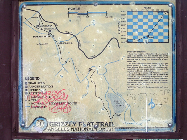 handy map at the trailhead
