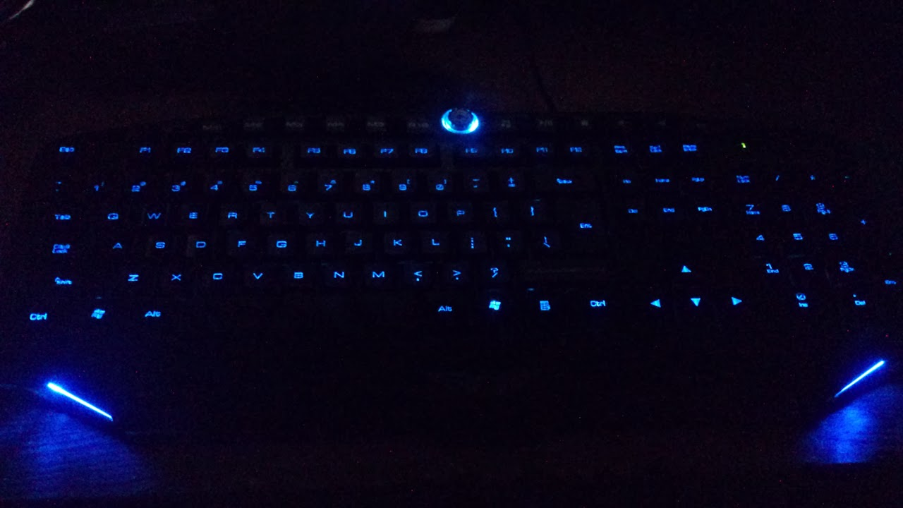 Blue backlight