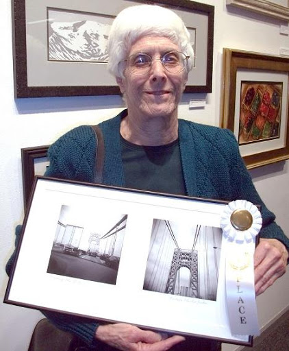 """Crossing the G.W. (George Washington Bridge, New York)"" by Barbara Zucker. Third Place."