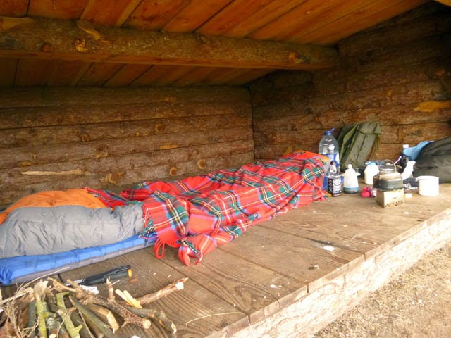 Bed in the hut