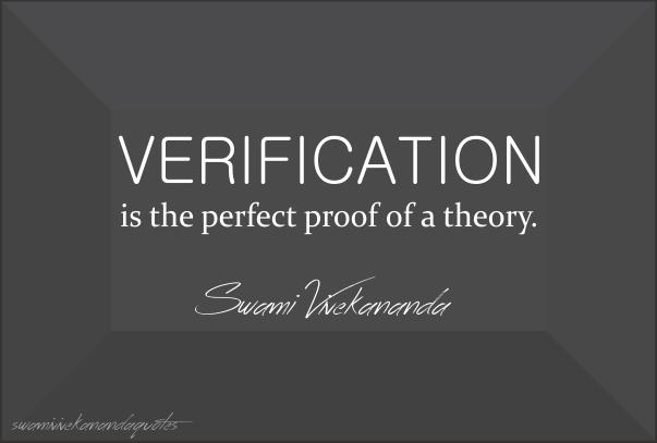 Swami Vivekananda Quotes on Theory Verification