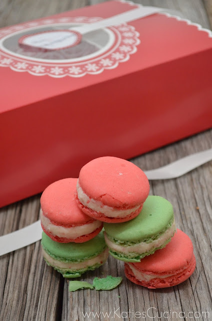 mother thyme peppermint macaroons #fbcookieswap