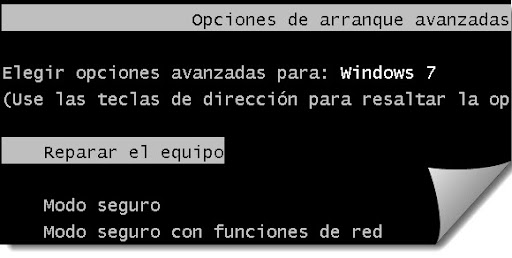 recuperación  windows seguro